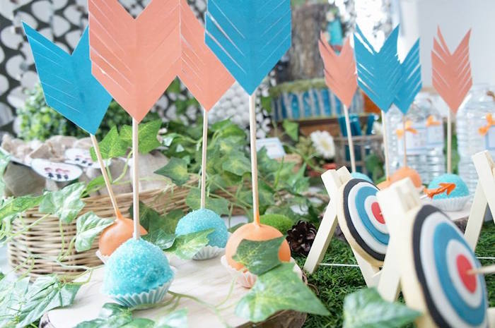 Arrow cake pops from a Disney's Brave Themed Birthday Party on Kara's Party Ideas | KarasPartyIdeas.com (10)