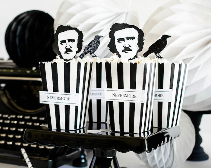 Nevermore Popcorn from an Edgar Allen Poe Inspired Halloween Party on Kara's Party Ideas | KarasPartyIdeas.com (8)