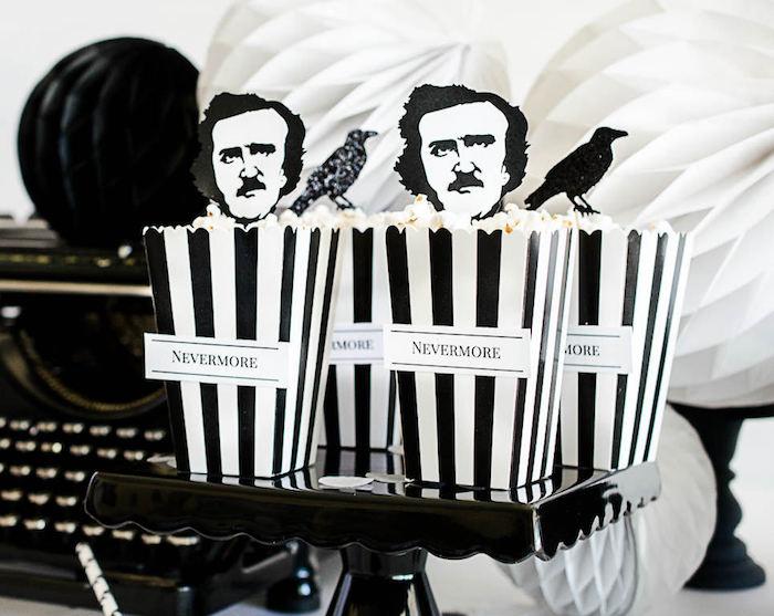 Kara S Party Ideas Edgar Allan Poe Inspired Halloween