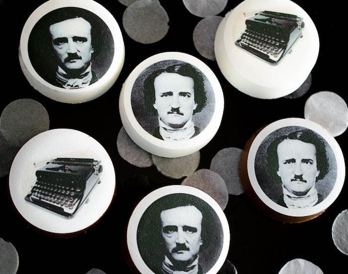 Edgar Allen Poe Oreos from an Edgar Allen Poe Inspired Halloween Party on Kara's Party Ideas | KarasPartyIdeas.com (7)
