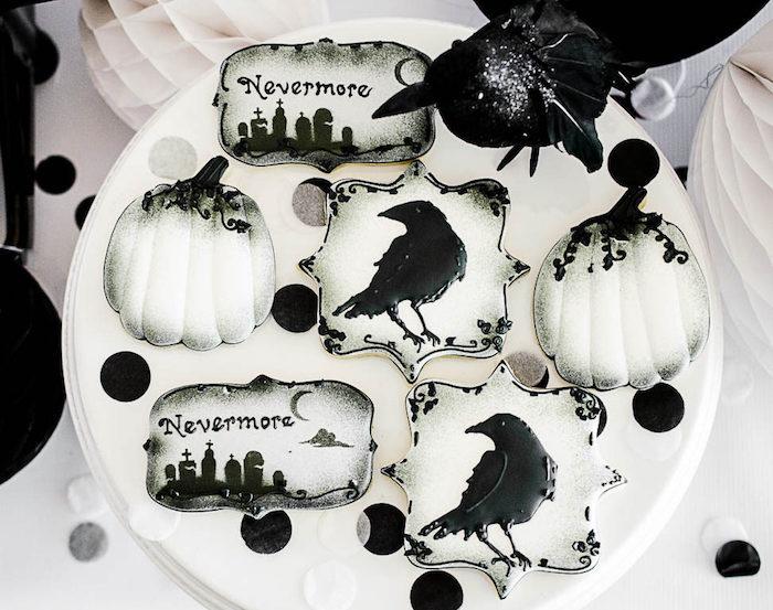 Edgar Allen Poe Cookies from an Edgar Allen Poe Inspired Halloween Party on Kara's Party Ideas | KarasPartyIdeas.com (16)