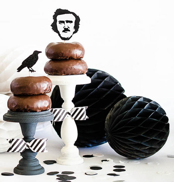 Karas Party Ideas Edgar Allan Poe Inspired Halloween Party Karas