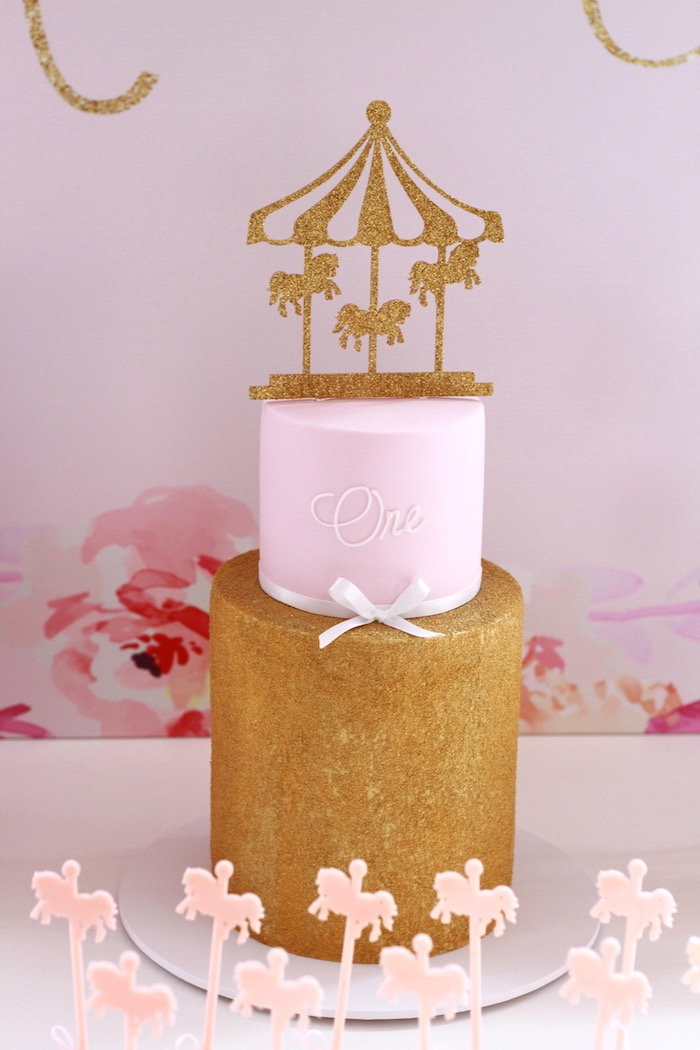 Kara S Party Ideas Floral Carousel Birthday Party Kara S