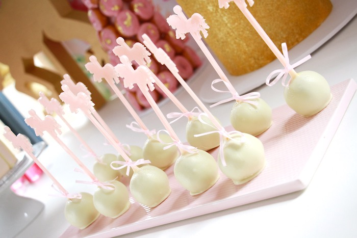 Cake pops from a Floral Carousel Birthday Party on Kara's Party Ideas | KarasPartyIdeas.com (7)