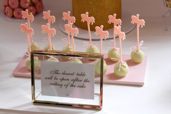 Carousel cake pops from a Floral Carousel Birthday Party on Kara's Party Ideas | KarasPartyIdeas.com (25)