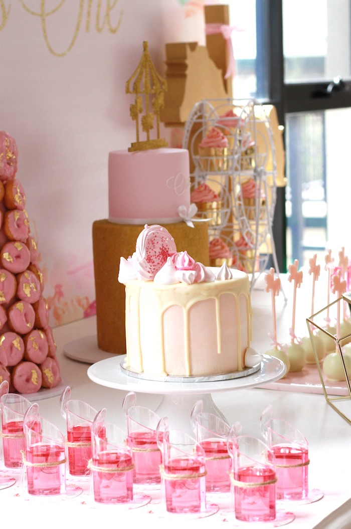 Cakescape from a Floral Carousel Birthday Party on Kara's Party Ideas   KarasPartyIdeas.com (20)