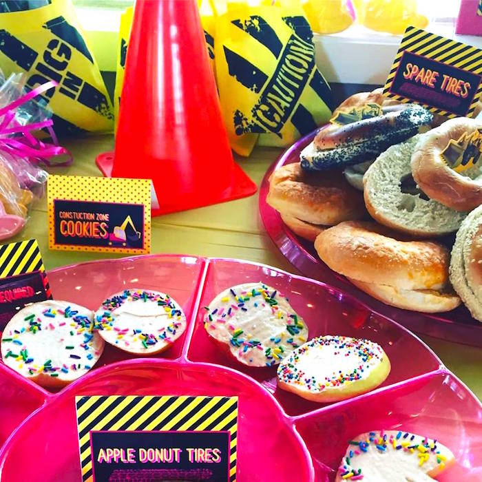 Sweets and snacks from a Girly Construction Themed Birthday Party on Kara's Party Ideas | KarasPartyIdeas.com (8)