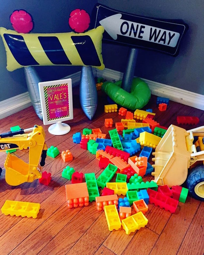 Legos from a Girly Construction Themed Birthday Party on Kara's Party Ideas | KarasPartyIdeas.com (9)