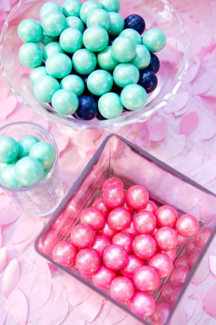 Pearl gumballs from a Glam Floral My Little Pony Birthday Party on Kara's Party Ideas | KarasPartyIdeas.com (14)