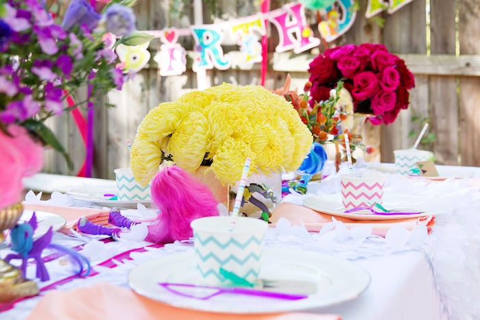 Guest tablescape from a Glam Floral My Little Pony Birthday Party on Kara's Party Ideas | KarasPartyIdeas.com (6)