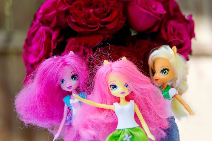 My Little Pony Dolls from a Glam Floral My Little Pony Birthday Party on Kara's Party Ideas | KarasPartyIdeas.com (3)