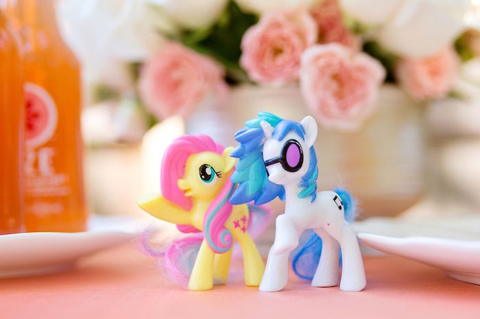 My Little Ponies from a Glam Floral My Little Pony Birthday Party on Kara's Party Ideas | KarasPartyIdeas.com (25)