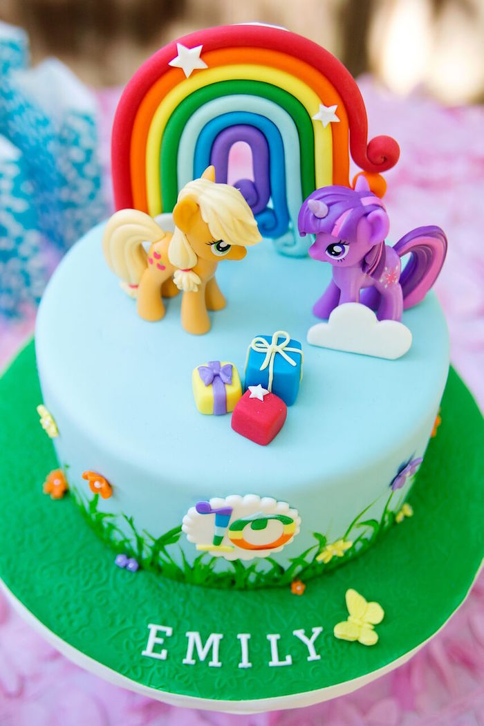 My Little Pony Cake From A Glam Floral Birthday Party On Karas