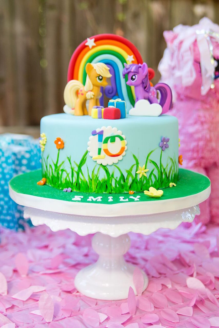 Kara S Party Ideas Glam Floral My Little Pony Birthday