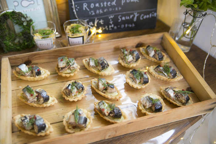 Appetizers from a Greenhouse Themed Japanese Reception Party on Kara's Party Ideas | KarasPartyIdeas.com (15)