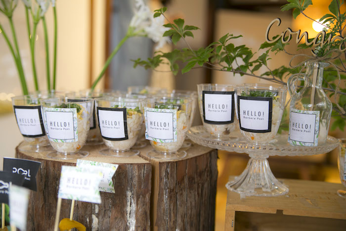 Snack cups from a Greenhouse Themed Japanese Reception Party on Kara's Party Ideas | KarasPartyIdeas.com (12)
