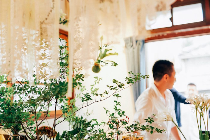 Greenery from a Greenhouse Themed Japanese Reception Party on Kara's Party Ideas | KarasPartyIdeas.com (8)