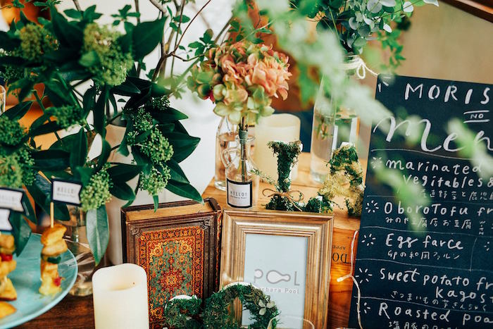 Plants & centerpieces from a Greenhouse Themed Japanese Reception Party on Kara's Party Ideas | KarasPartyIdeas.com (7)