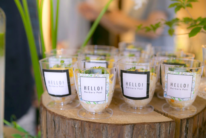 Appetizer cups from a Greenhouse Themed Japanese Reception Party on Kara's Party Ideas | KarasPartyIdeas.com (24)