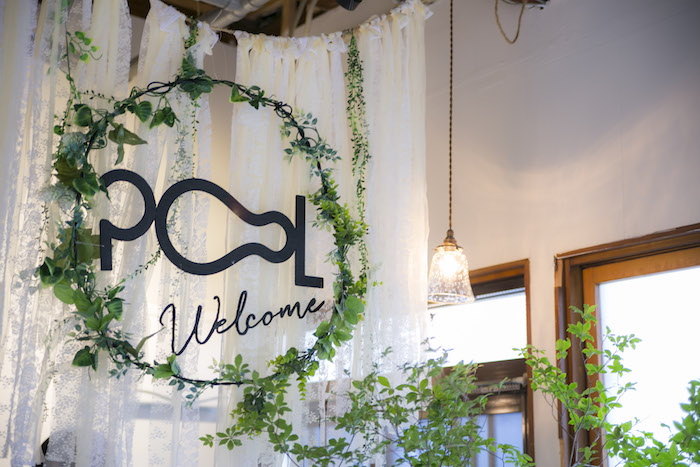 Welcome sign from a Greenhouse Themed Japanese Reception Party on Kara's Party Ideas | KarasPartyIdeas.com (23)