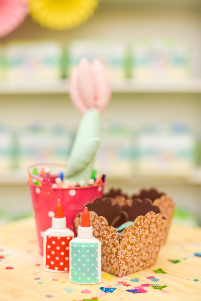 Decorating supplies from a Horse Derby Birthday Party on Kara's Party Ideas | KarasPartyIdeas.com (24)