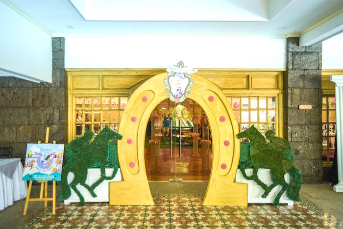 Horseshoe arch + entrance hall from a Horse Derby Birthday Party on Kara's Party Ideas | KarasPartyIdeas.com (16)