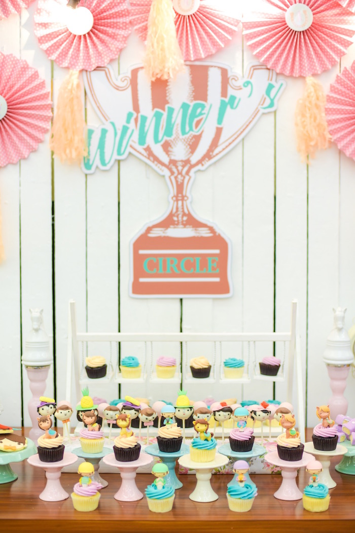 Winner's Circle sweet table from a Horse Derby Birthday Party on Kara's Party Ideas | KarasPartyIdeas.com (15)