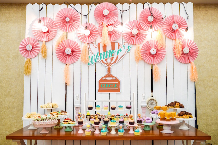 Winner's Circle dessert table from a Horse Derby Birthday Party on Kara's Party Ideas | KarasPartyIdeas.com (36)