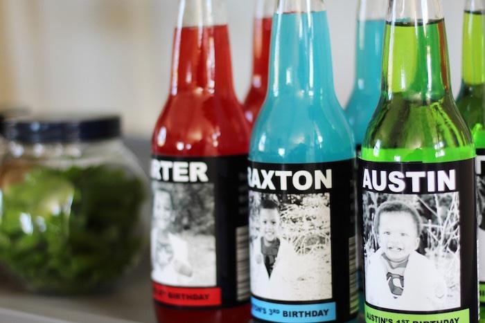 Drink bottles from an Iron Man + Hulk & Spiderman Superhero Birthday Party on Kara's Party Ideas | KarasPartyIdeas.com (41)