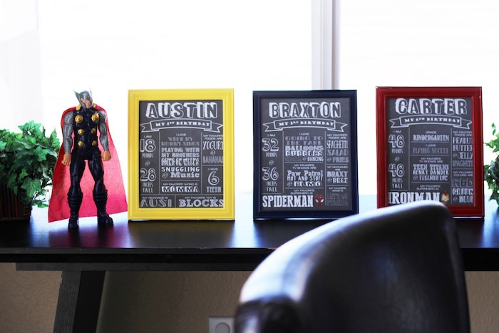 Superhero fact boards from an Iron Man + Hulk & Spiderman Superhero Birthday Party on Kara's Party Ideas | KarasPartyIdeas.com (29)