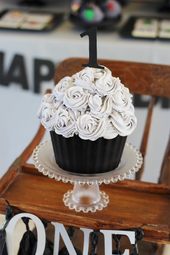 Cupcake cake from an Iron Man + Hulk & Spiderman Superhero Birthday Party on Kara's Party Ideas | KarasPartyIdeas.com (14)