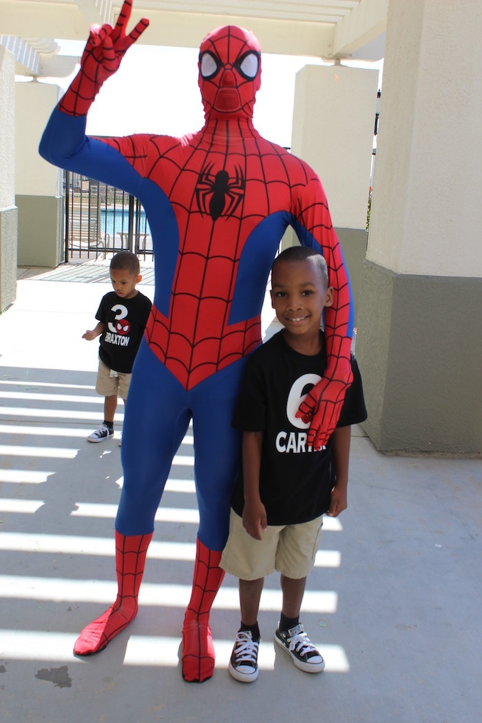 Iron Man + Hulk & Spiderman Superhero Birthday Party on Kara's Party Ideas | KarasPartyIdeas.com (6)