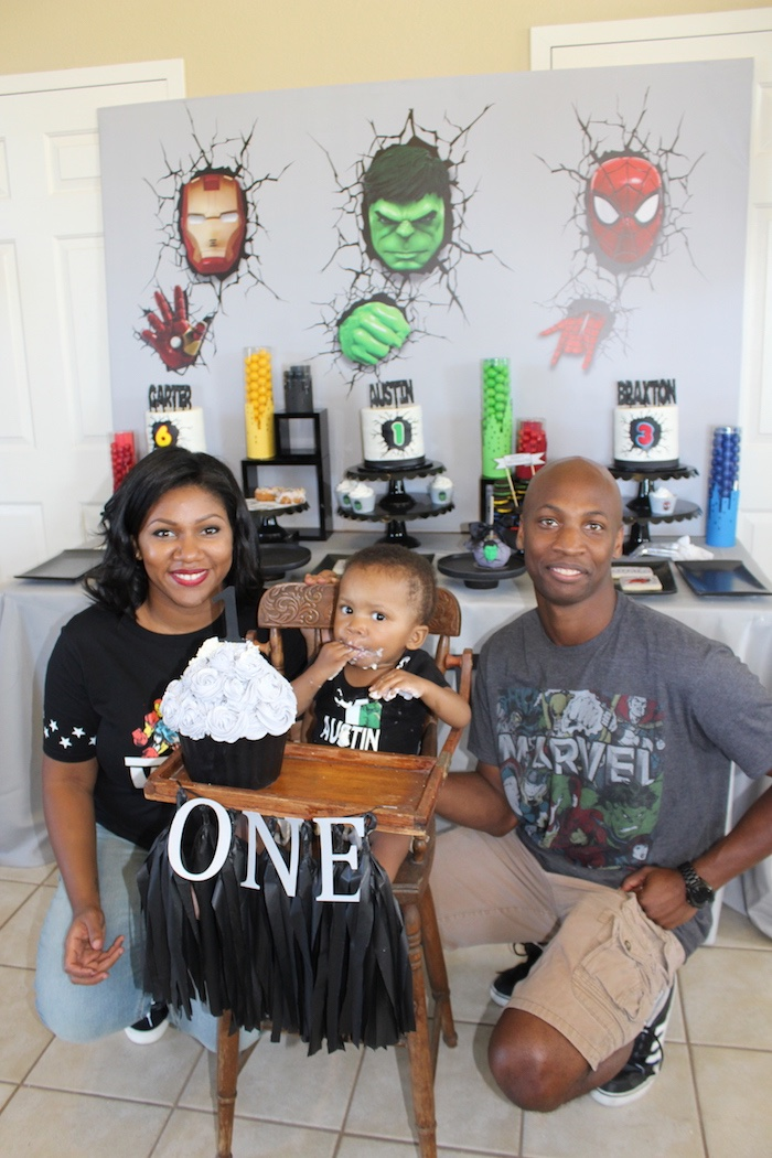 Iron Man + Hulk & Spiderman Superhero Birthday Party on Kara's Party Ideas | KarasPartyIdeas.com (5)