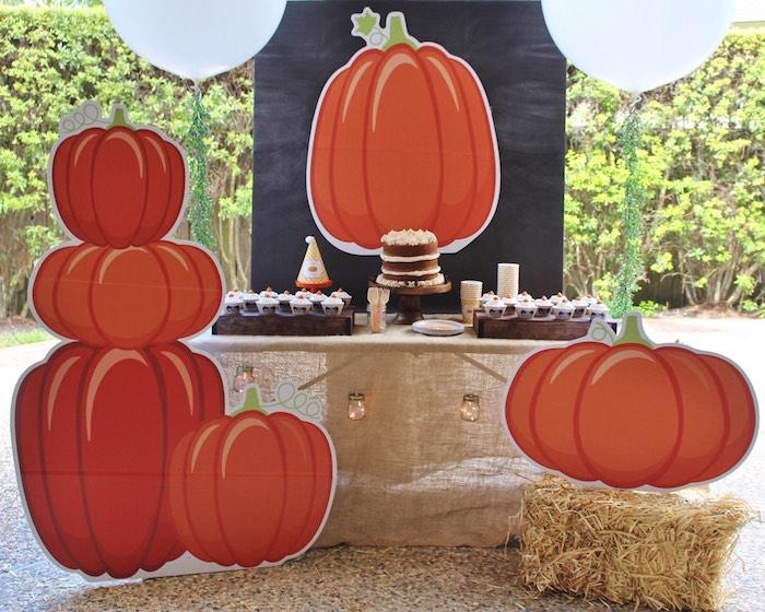 Little Pumpkin Fall Birthday Party on Kara's Party Ideas | KarasPartyIdeas.com (7)