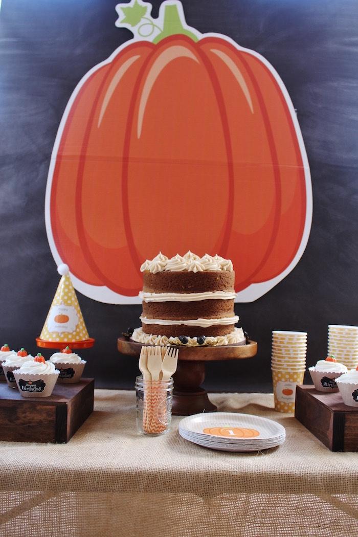 Little Pumpkin Fall Birthday Party on Kara's Party Ideas | KarasPartyIdeas.com (15)