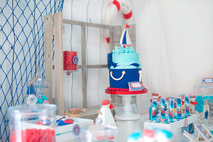 Little Sailor Nautical Baby Shower on Kara's Party Ideas | KarasPartyIdeas.com (6)