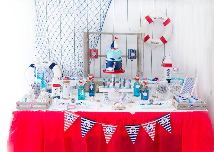 Little Sailor Nautical Baby Shower on Kara's Party Ideas | KarasPartyIdeas.com (18)