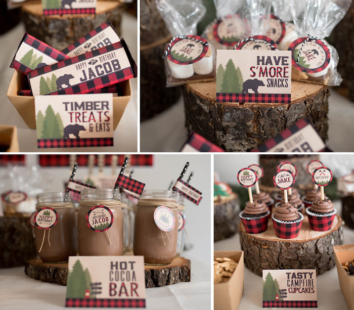Lumberjack Birthday Party on Kara's Party Ideas | KarasPartyIdeas.com (34)