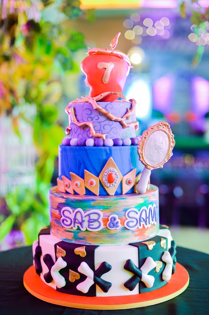 Maleficent cake from a Maleficent Birthday Party on Kara's Party Ideas | KarasPartyIdeas.com (22)