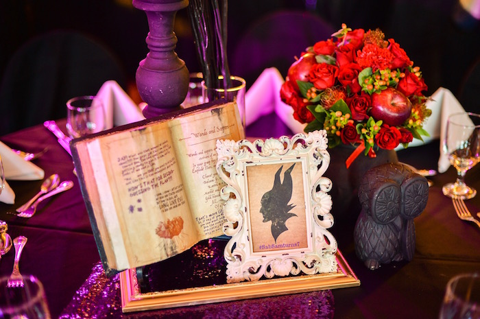 Maleficent-inspired table centerpieces from a Maleficent Birthday Party on Kara's Party Ideas | KarasPartyIdeas.com (16)