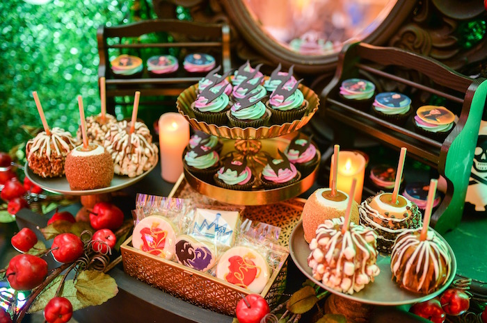 Sweet table from a Maleficent Birthday Party on Kara's Party Ideas | KarasPartyIdeas.com (10)