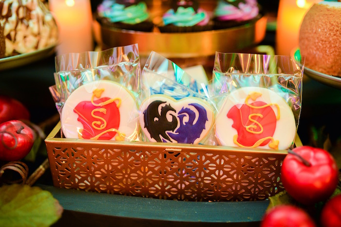 Maleficent cookies from a Maleficent Birthday Party on Kara's Party Ideas | KarasPartyIdeas.com (9)