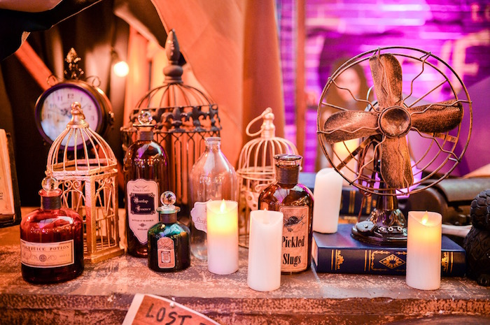 Party table from a Maleficent Birthday Party on Kara's Party Ideas | KarasPartyIdeas.com (7)