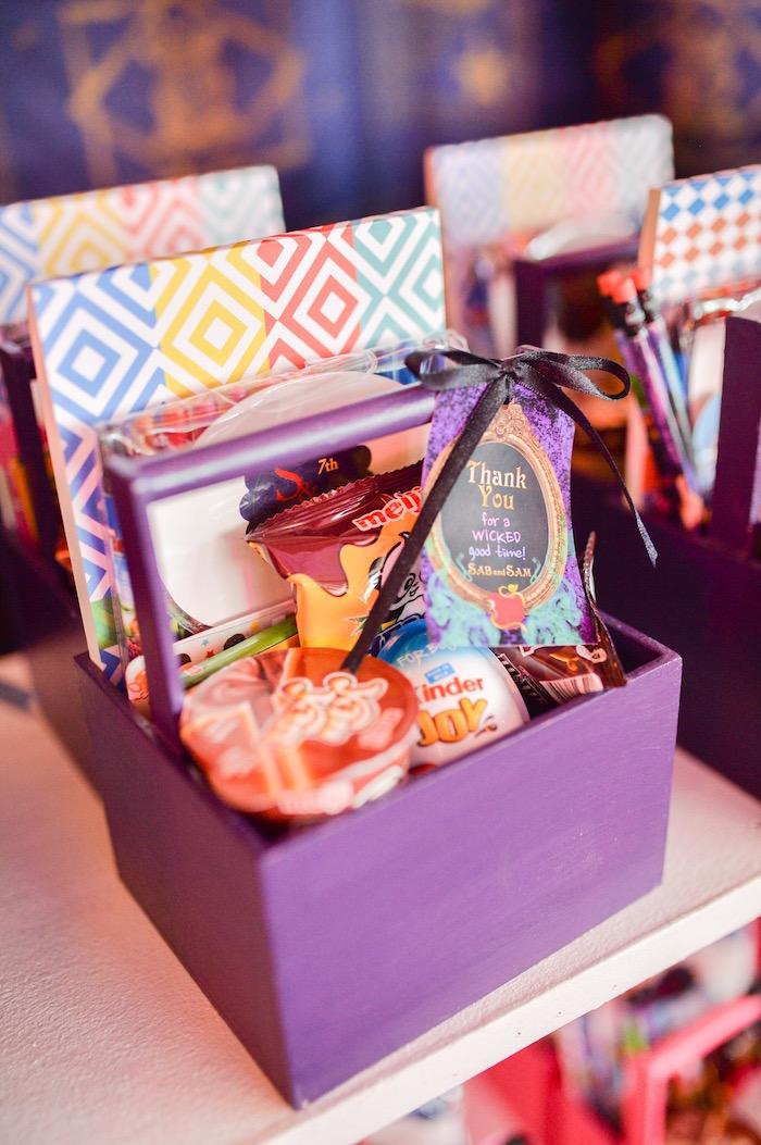 Favor box from a Maleficent Birthday Party on Kara's Party Ideas | KarasPartyIdeas.com (5)