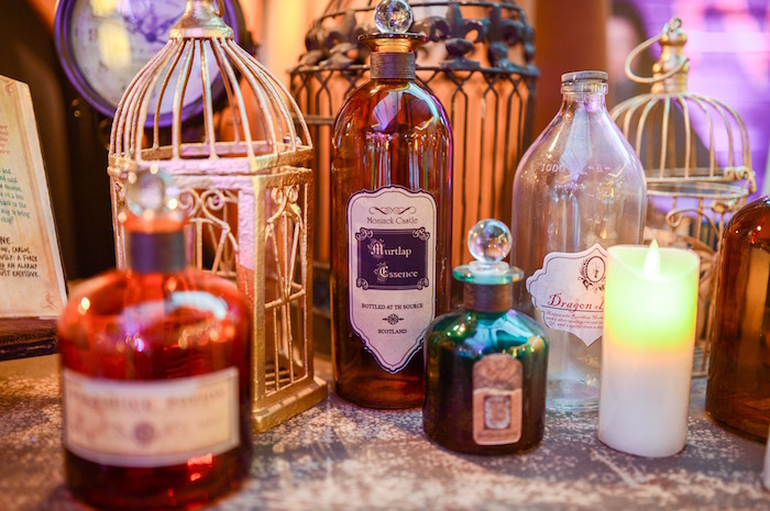 Potions + cages + candles from a Maleficent Birthday Party on Kara's Party Ideas | KarasPartyIdeas.com (30)