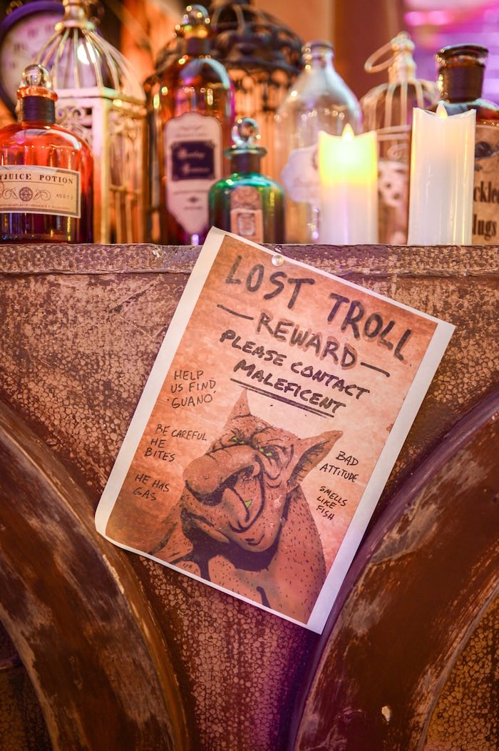 """""""Lost Troll"""" flyer from a Maleficent Birthday Party on Kara's Party Ideas 