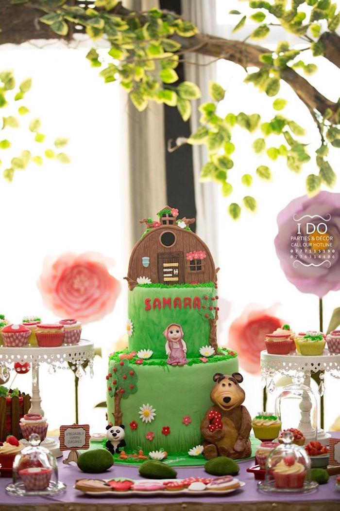 Kara\'s Party Ideas Masha & the Bear Birthday Party | Kara\'s Party Ideas