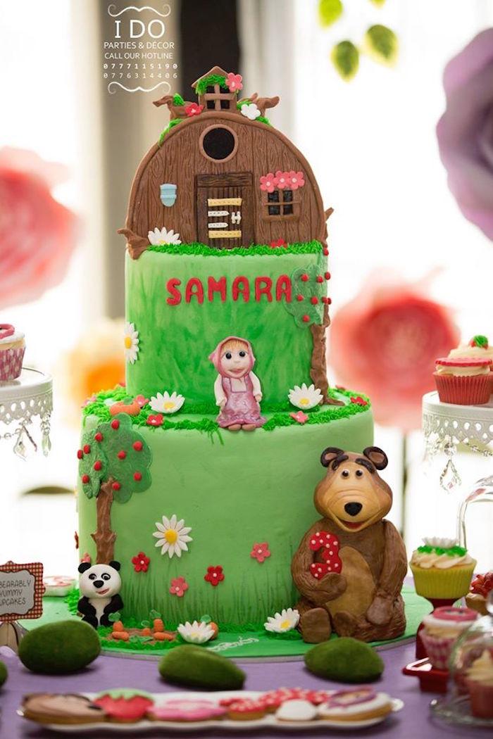 Karas Party Ideas Masha The Bear Birthday Party Karas Party Ideas