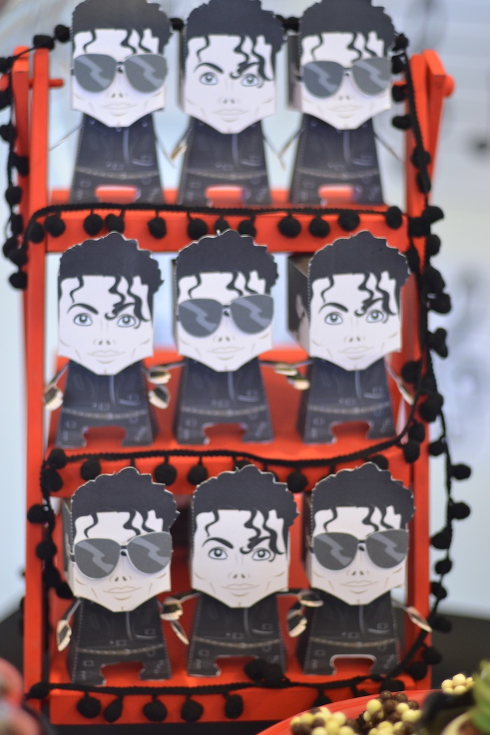 Michael Jackson favor boxes from a Michael Jackson Birthday Party on Kara's Party Ideas | KarasPartyIdeas.com (15)
