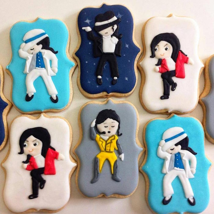 Michael Jackson cookies from a Michael Jackson Birthday Party on Kara's Party Ideas | KarasPartyIdeas.com (28)